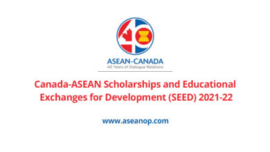 Photo of Canada-ASEAN SEED Scholarship 2021